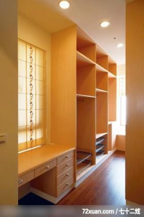 东方色彩的空间设计,艺堂室内设计,李燕堂,卧室,更衣室,化妆台,造型衣橱,