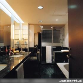 大宅如何体现精神所在,龙发,殷勇,浴室,洗脸台面,镜面收纳柜,用品架,干湿分离隔间,收纳柜,