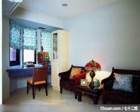 丁薇芬_06_北市天母,观林室内设计工程,黄传林,书房,阅读区,冷气摆放设计,展示柜,造型天花板,