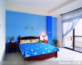丁薇芬_10_林口,觐得空间设计,游淑慧,卧室,阳台落地窗,造型主墙,造型天花板,床头柜,