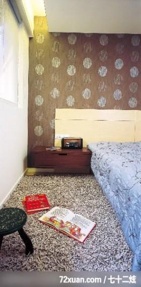 女人喜欢低调的奢华感,东易日盛亚奥工作室,石海峰,卧室,床头柜,造型主墙,阅读区,造型天花板,