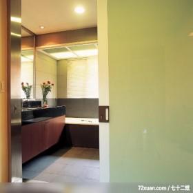 女人喜欢低调的奢华感,东易日盛亚奥工作室,石海峰,浴室,洗脸台面,拉门,造型天花板,收纳柜,