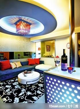 大胆前卫设计,春雨时尚空间设计,周建志,客厅,造型天花板,造型灯光,造型电视主墙,