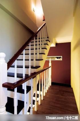 禾观.空间_01_竹北市,觐得空间设计,游淑慧,楼梯间,造型楼梯,造型主墙,