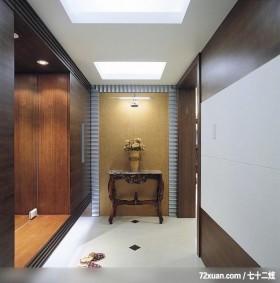 合理的生活居所,东易日盛CBD工作室,唐伟,玄关,造型天花板,整衣镜,收纳鞋柜,造型桌,造型地板,