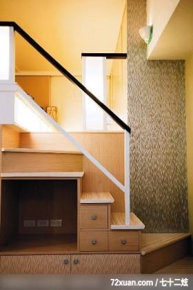 大卫麦可_12_北市中山区,云邑室内设计,李中霖,客厅,造型楼梯,楼梯收纳柜,