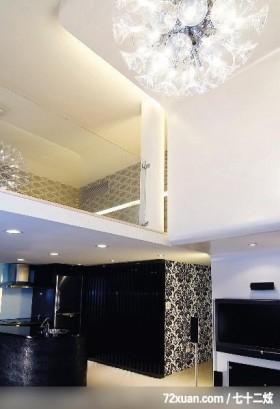 Kingson_01_北市八德路,云邑室内设计,李中霖,客厅,挑高设计,穿透设计,造型天花板,造型灯