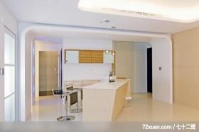 筑采_01_台中,艺堂室内设计,李燕堂,餐厅,造型天花板,隔间吧台,冷气摆放设计,收纳柜,