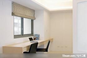 筑采_01_台中,艺堂室内设计,李燕堂,卧室,阅读区,造型天花板,