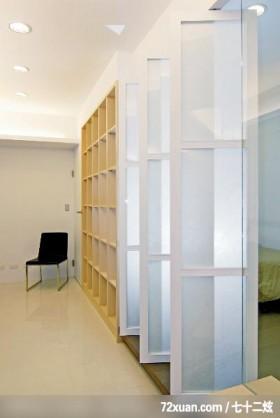 筑采_01_台中,艺堂室内设计,李燕堂,卧室,弹性隔间设计,书柜,造型天花板,
