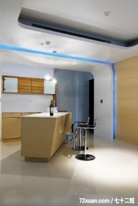 筑采_01_台中,艺堂室内设计,李燕堂,餐厅,冷气摆放设计,隔间吧台,收纳柜,造型天花板,造型灯光,