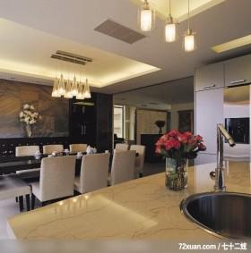 水与光_03_台中县,观林室内设计工程,黄传林,餐厅,造型天花板,造型主墙,造型灯光,冰箱收纳柜,冷