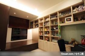 墨比雅_22_台中市,觐得空间设计,游淑慧,卧室,书柜,阅读区,造型天花板,
