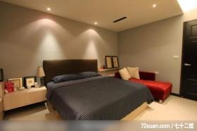 墨比雅_22_台中市,觐得空间设计,游淑慧,卧室,造型天花板,床头柜,收纳层板,造型主墙,
