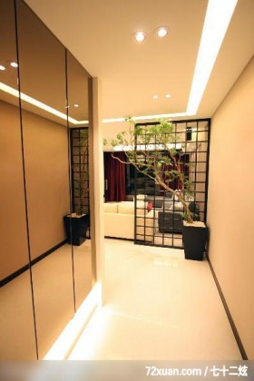 墨比雅_22_台中市,觐得空间设计,游淑慧,玄关,收纳鞋柜,造型天花板,隔屏,
