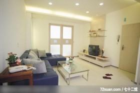 功苑_05,观林室内设计工程,黄传林,客厅,视听柜,收纳层板,造型电视主墙,造型天花板,