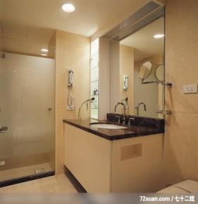 IS_60_北县,云邑室内设计,李中霖,浴室,干湿分离隔间,收纳柜,洗脸台面,用品架,