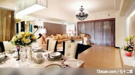 觐观_01_高雄市,艺堂室内设计,李燕堂,餐厅,造型沙发背墙,造型天花板,阳台落地窗,无隔间设计,视