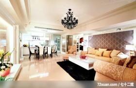 觐观_01_高雄市,艺堂室内设计,李燕堂,客厅,造型沙发背墙,造型天花板,冷气摆放设计,无隔间设计,