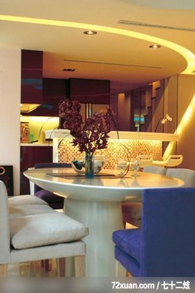 Kenny&C_北县新庄市02,蓝景丽家装饰中心,吕艳伟,餐厅,楼梯,造型天花板,岛型吧台,