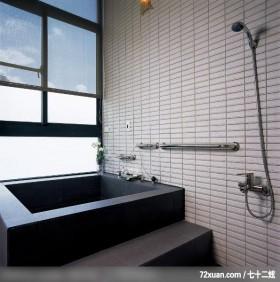 精美的调高设计,觐得空间设计,游淑慧,浴室,观景窗,汤屋,用品架,