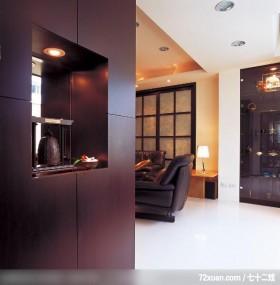 巧妙装饰改造旧屋,云邑室内设计,李中霖,玄关,展示柜,造型天花板,拉门,