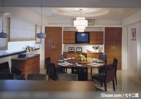 林万富_10,摩登雅舍室内装修,蓝永峻,餐厅,收纳柜,造型天花板,造型灯光,展示柜,电视柜,
