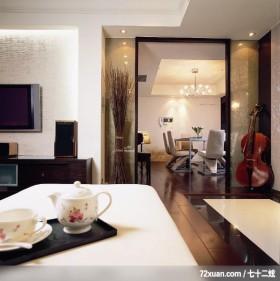 权释_04_北市安和路,北京泰吉伟邦设计公司,高震,客厅,电视背景墙,电视柜,造型灯光,造型天花板,