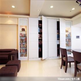 精简宽敞的设计间,墨比雅设计团队,王思文,走道,收纳柜,展示柜,造型天花板,无隔间设计,