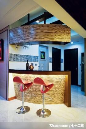 星叶_01_北市中山北路,春雨时尚空间设计,周建志,餐厅,隔间吧台,造型天花板,