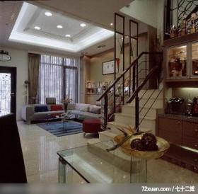 艺堂_14_台中市,观林室内设计工程,黄传林,客厅,造型沙发背墙,造型天花板,隔屏,收纳柜,红酒收纳