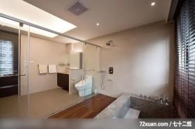 观林_12_北市内湖,墨比雅设计团队,王思文,浴室,汤屋,穿透设计,收纳柜,造型天花板,
