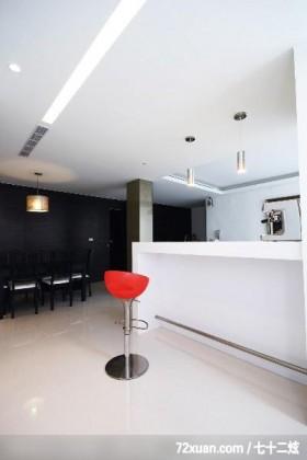 观林_02_北市,东易日盛CBD工作室,李文剑,餐厅,造型灯光,造型天花板,隔间吧台,冷气摆放设计,