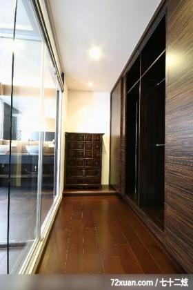 观林_02_北市,东易日盛CBD工作室,李文剑,走道,穿透设计,收纳柜,拉门,衣橱,