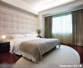 现代美感主调白色系,艺堂室内设计,李燕堂,卧室,造型主墙,床头柜,造型天花板,阳台外推,
