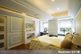 EASYDECO_12_北市,春雨时尚空间设计,周建志,卧室,造型天花板,冷气摆放设计,化妆台,