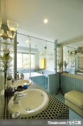 EASYDECO_12_北市,春雨时尚空间设计,周建志,浴室,干湿分离隔间,洗脸台面,