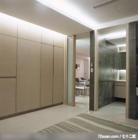 线条勾勒美感,龙发,张斌,卧室,隐藏门,造型天花板,冷气摆放设计,拉门,造型衣橱,