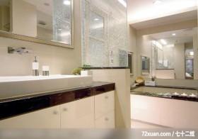 现代简洁的设计,龙发,王晶,浴室,汤屋,造型天花板,洗脸台面,收纳柜,透明隔间,