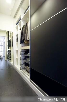 筑域_01_北市内湖,权释设计,洪韡华,卧室,更衣室,造型衣橱,穿衣镜,