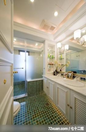 EASYDECO_16_北市,观林室内设计工程,黄传林,浴室,洗脸台面,收纳柜,干湿分离隔间,用品架