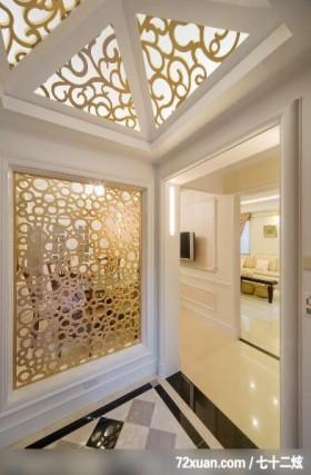 EASYDECO_16_北市,观林室内设计工程,黄传林,玄关,造型天花板,主墙,造型天花板,