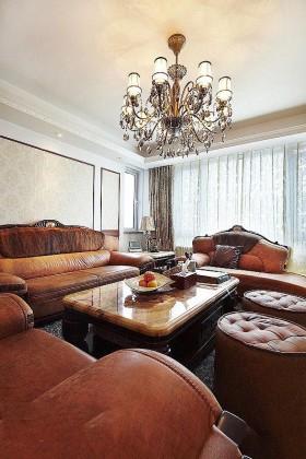 130平二居客厅沙发装修效果图1025