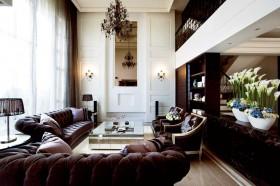 120平别墅新古典客厅装修效果图856