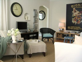 70平别墅客厅沙发装修效果图853
