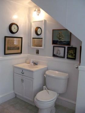 140平公寓卫生间洗手台装修效果图152