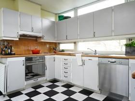 130平北欧厨房橱柜装修效果图158