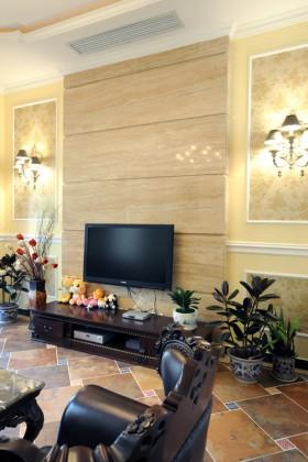 欧式风格电视背景墙140平米产品装修效果图大全2015