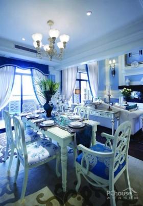 浪漫蓝白地中海风格