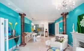 清爽蓝调风格家居设计